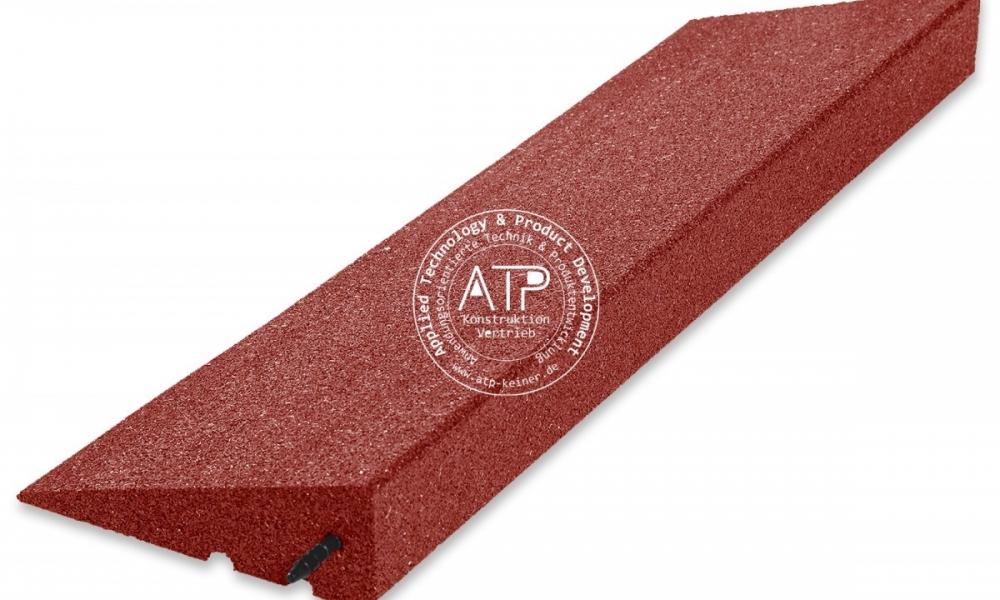 Bordsteinkeil-Gummi-PKW-rot-flex-Rampe-90mm-ATP